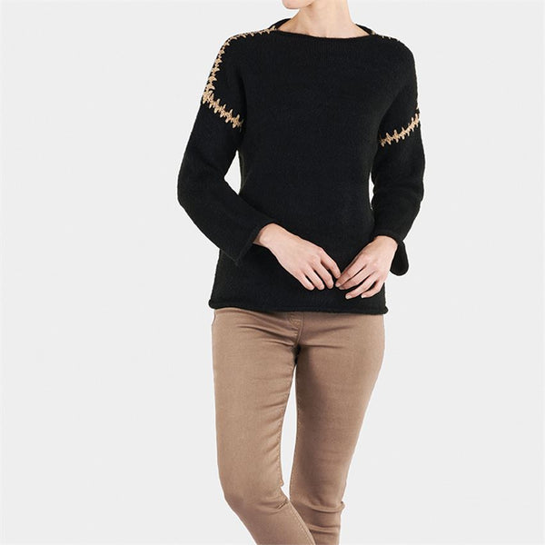 Coco + Carmen Whipstitch Shoulder Sweater