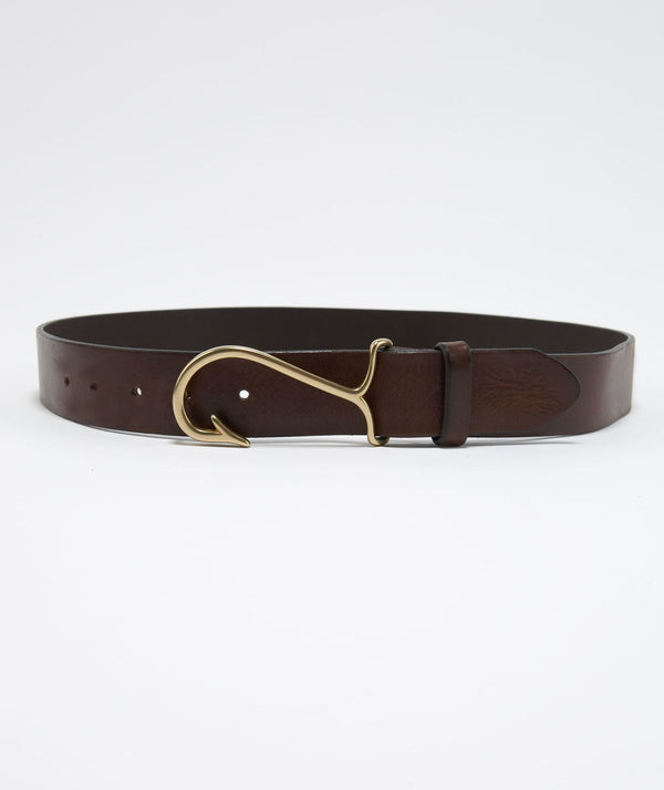 Vineyard Vines Men's Fish Hook Belt 1A49061-204 Dark Brown