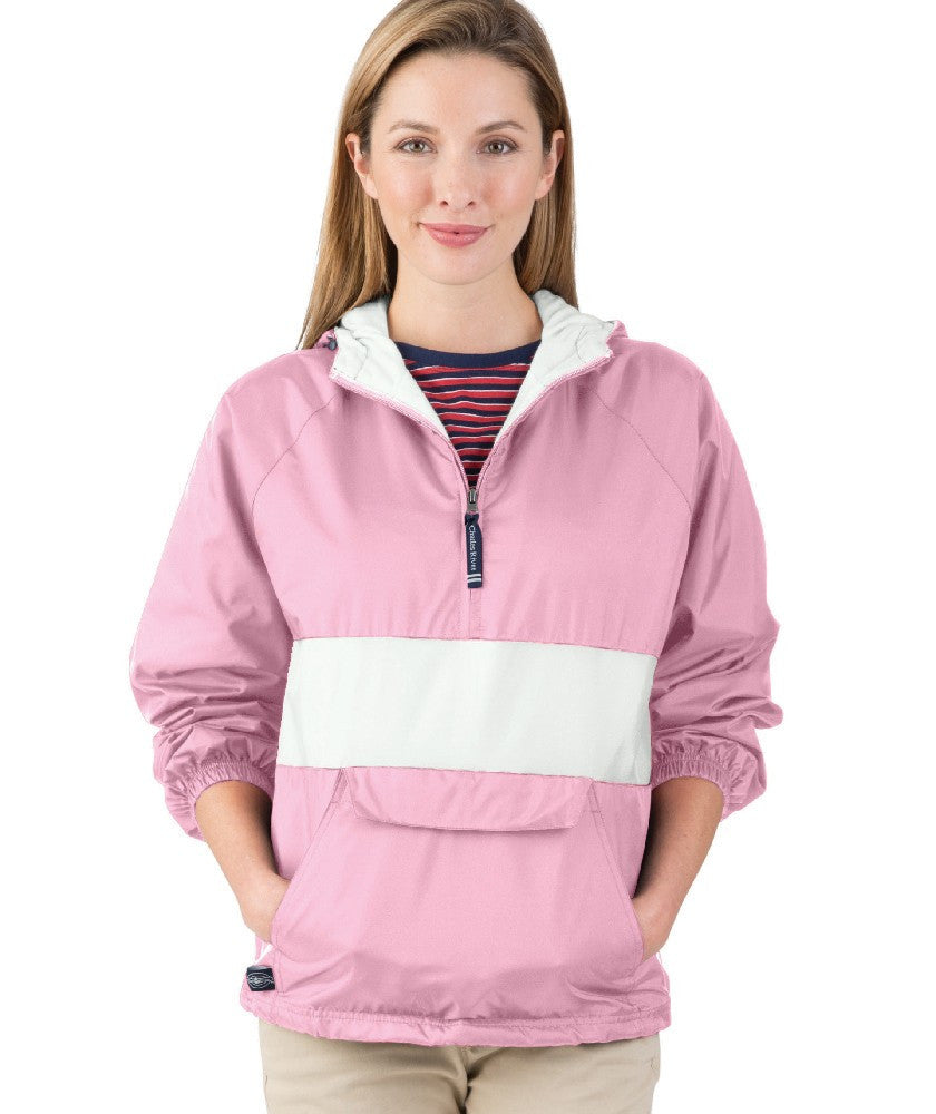 Classic Striped Rain Jacket Pullover