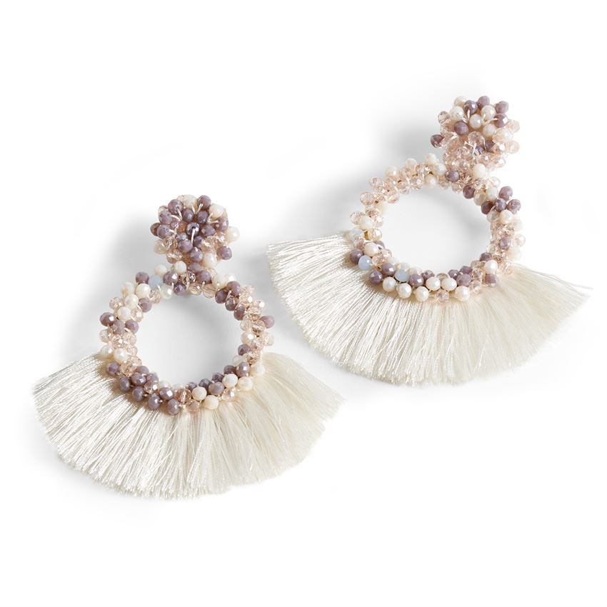 Coco + Carmen Summer Nights Earrings in Plum