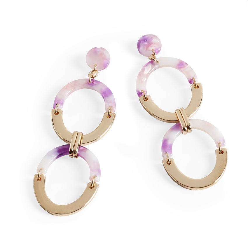 Coco + Carmen Mulberry Double Oval Earrings