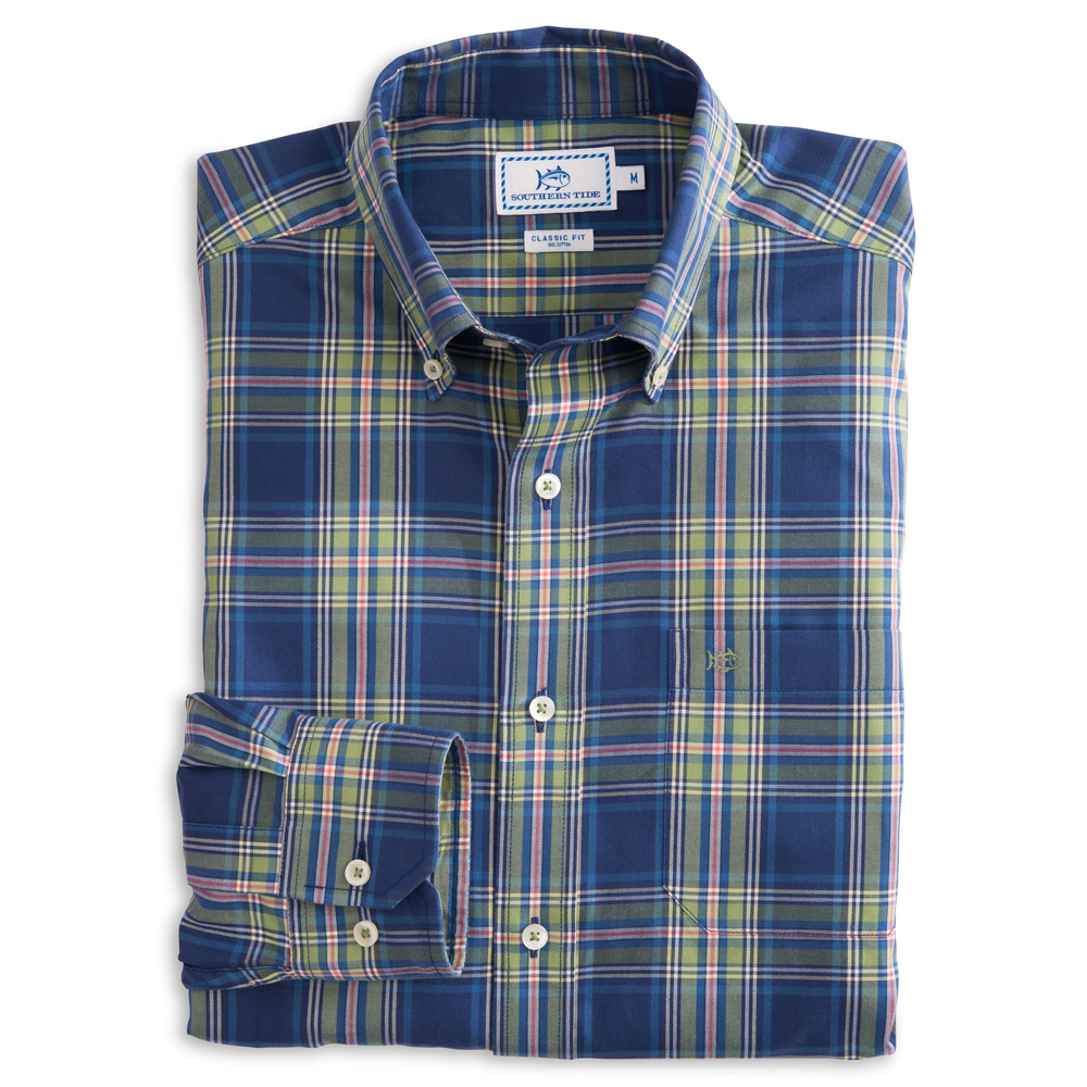 Long-Sleeve Flat Rock Plaid Sportshirt