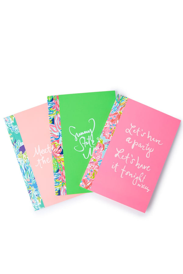 Lilly Pulitzer Notebook Set of 3