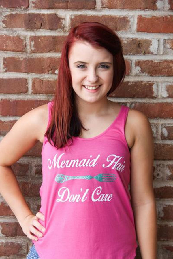 Mermaid Hair Glitter Tank