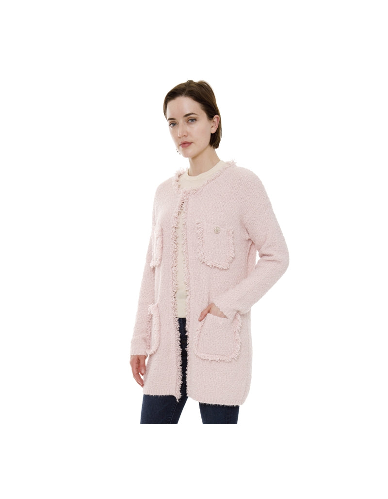 Four Pocket Sweater Cardigan Pink