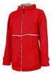 Charles River Rain Jacket w/ Monogram- Fall Colors Red