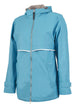 Charles River Rain Jacket w/ Monogram- Fall Colors Wave