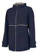 Charles River Rain Jacket w/ Monogram- Fall Colors True Navy