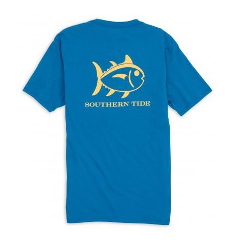 Men's SS Weathered Skipjack Tee Legacy Blue by Southern Tide