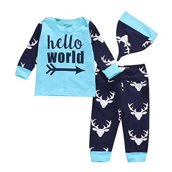 Hello World Deer 3-piece Outfit