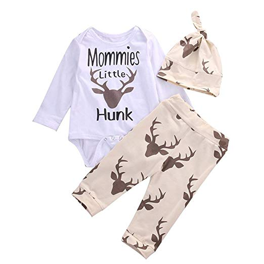Mommies Little Hunk Deer 3-piece Outfit
