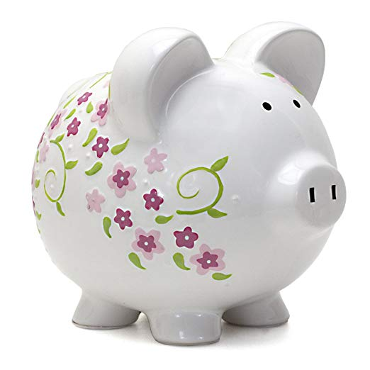 Large Shabby Chic Pig Bank