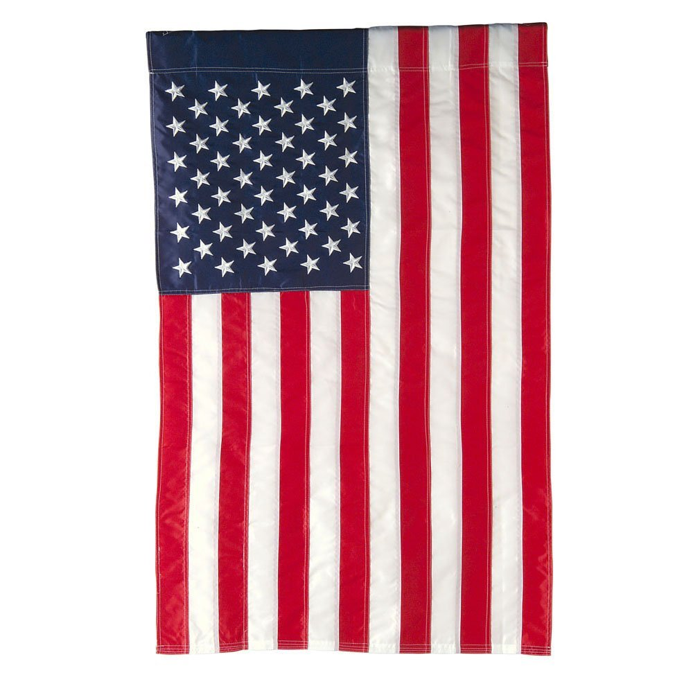 Classic American Double-Sided Applique Flag - 28x44