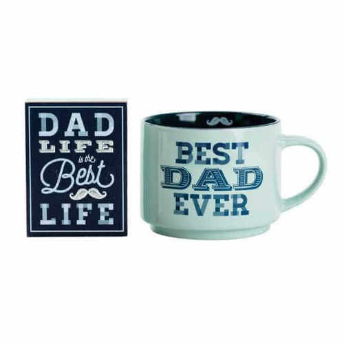 Best Dad Ever Wood Block and Mug Set