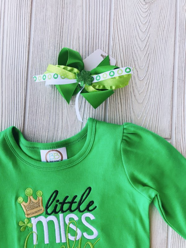 Little Miss Lucky Charm - Ruffled Tee