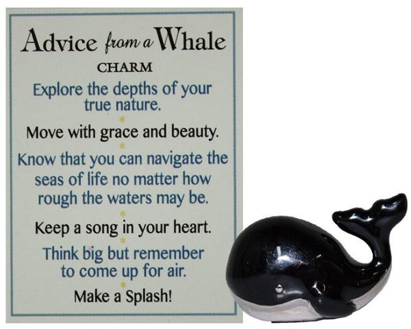 Advice from a Whale Charm ER56003 Metal, Apprx 1""