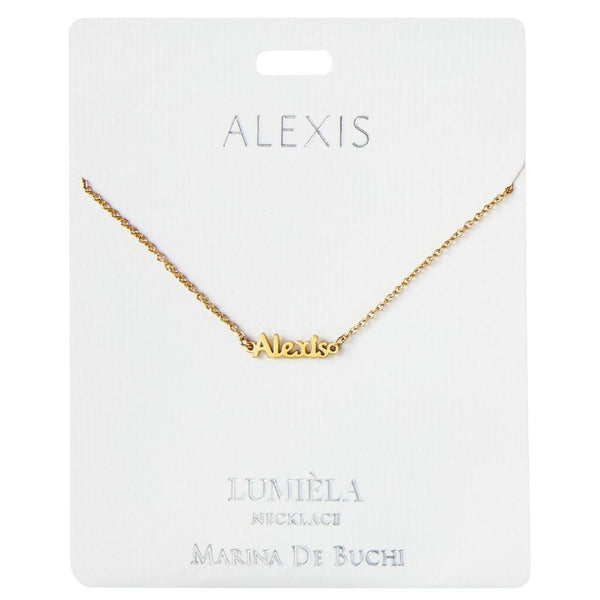 Lumiela Script Name Necklace Alexis