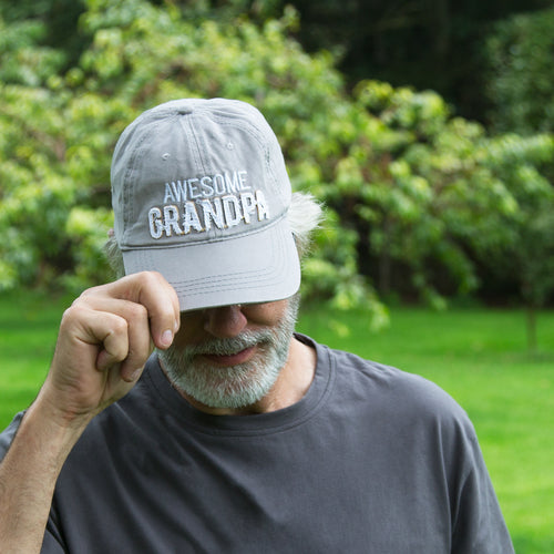 Awesome Grandpa Warm Gray Hat Pavilion Gifts