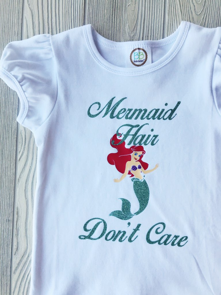Mermaid Hair Don't Care - Little Mermaid Shirt