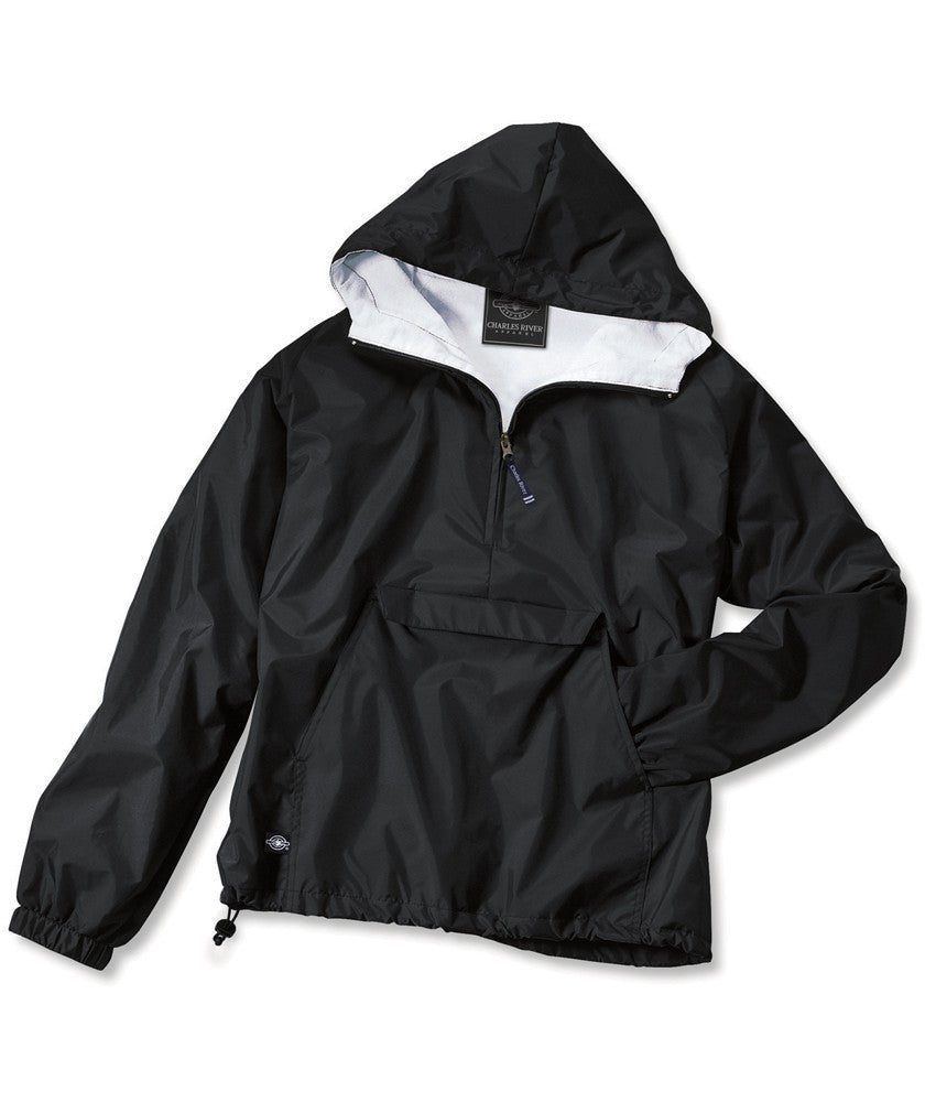 Solid Basic Classic Rain Jacket Pull Over