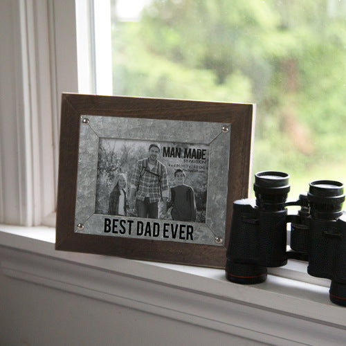 "Best Dad - 9.5"" x 7.5"" Frame (Holds 4"" x 6"" Photo)"