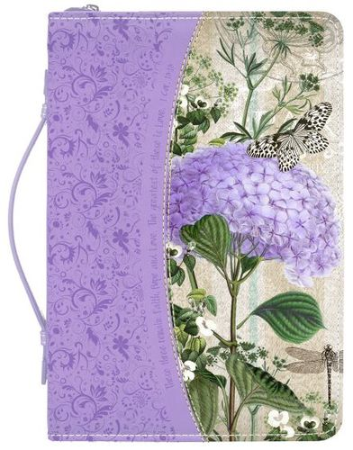 Divine Details Purple Hydrangea Bible Cover 27388