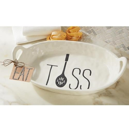 Bistro Pasta/Salad Bowl by Mud Pie La Boutique