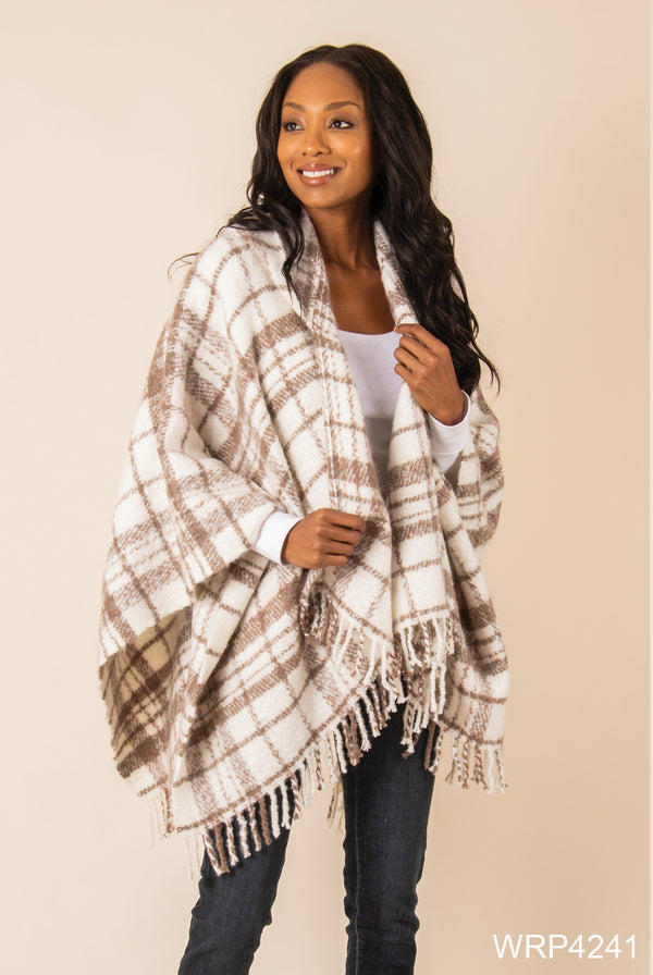 Simply Noelle Brushed Hooded Wrap