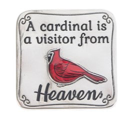 Ganz Cardinal Pocket / Purse Charms Tokens A Cardinal Is A Visitor From Heaven ER57025