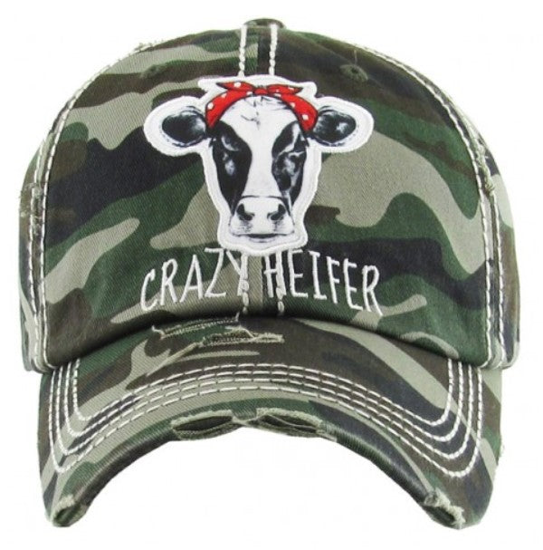 "Patch Cap ""Crazy Heifer"" Camo"