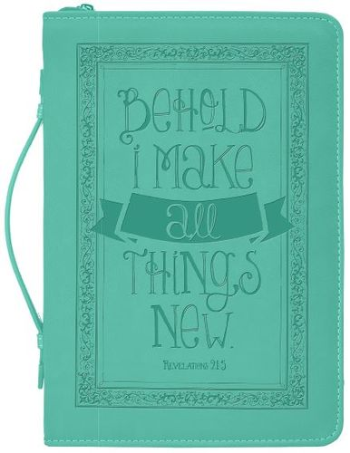 Divine Details: Bible Cover Behold I Make All Things New Nicole Brayden Gifts