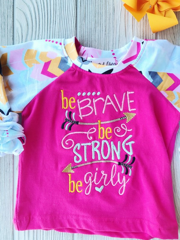 Be Brave - Girl's Ruffled Shirt