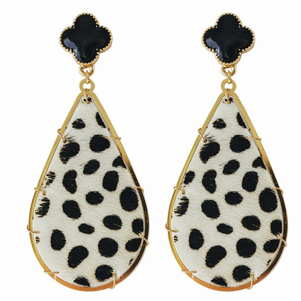 Michelle McDowell Earrings Sedona Black Leopard