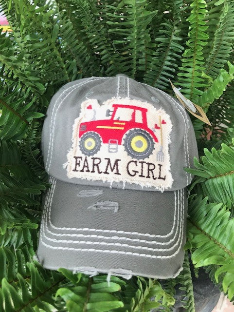 Patch Cap Farm Girl Assorted Colors