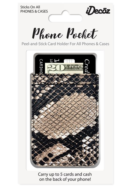 Faux Leather Phone Pocket Python