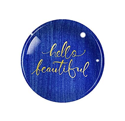 Fringe Studio Brush Hello Beautiful Dome Paperweight
