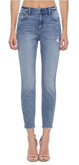 High Rise Mom Skinny Jeans Cello Jeans
