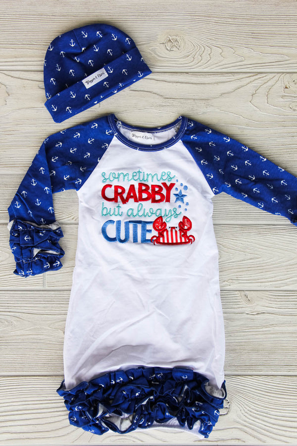 Nautical Themed Baby Gown