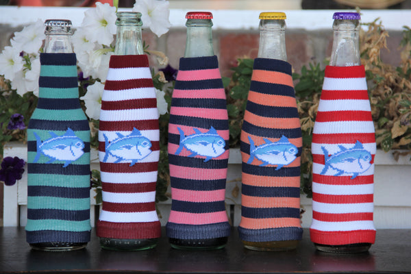 Southern Tide Collectible Stripe Bottle Sock