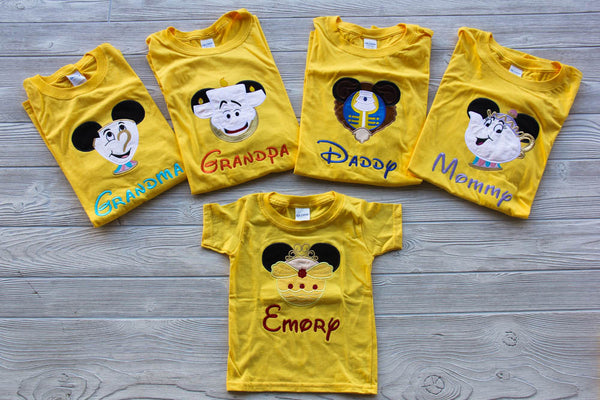 Beauty and the Beast Inspired Family Shirt Set