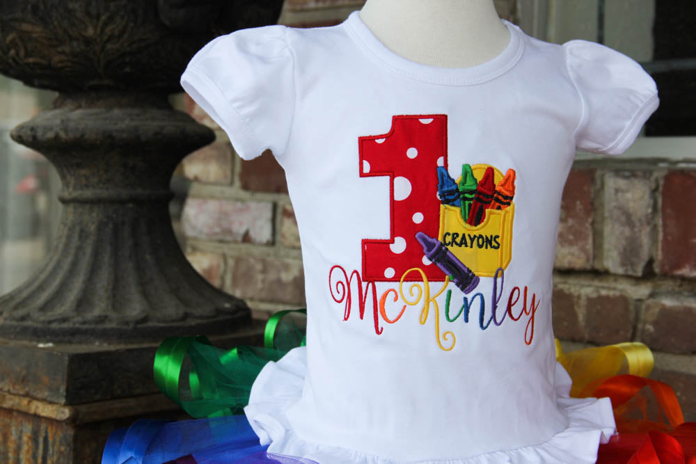 Crayon Rainbow Birthday Outfit