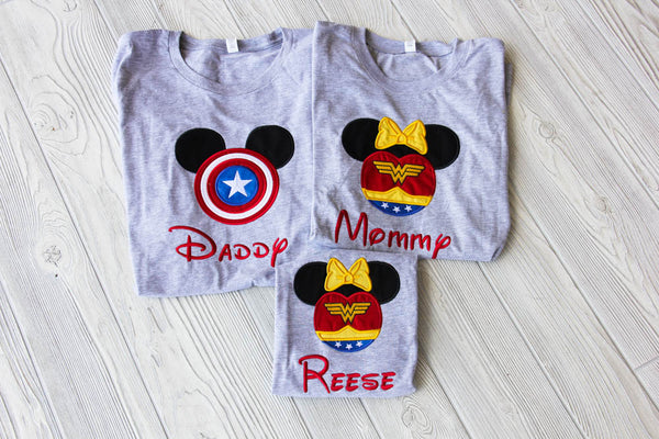 Superhero Marvel Inspired Family Shirt Set Darling Custom Designs