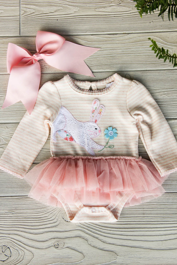 Pink Bunny Tutu Crawler One Piece