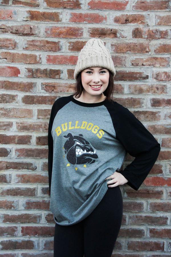 Van Buren Bulldogs Baseball Tee w/ Name on Back