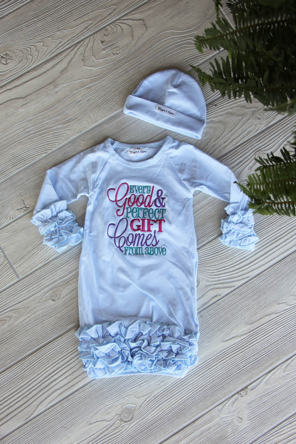 Every Good & Perfect Gift Comes from Above Newborn Gown