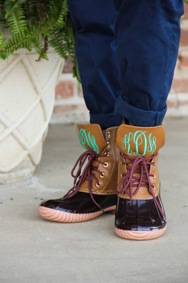 Brown Duck Boots w/ Monogram