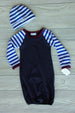 Pepper & Oliver  Baby Boy Infant Raglan Gown Set