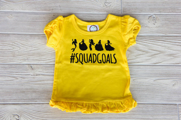 Disney Princess Squad Goals Tee - Yellow