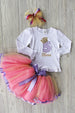 5th Birthday Outfit w/ Ribbon Tulle Skirt