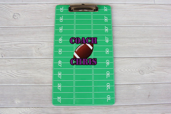 Football Coach Clipboard - Coach Gift 9x15.5
